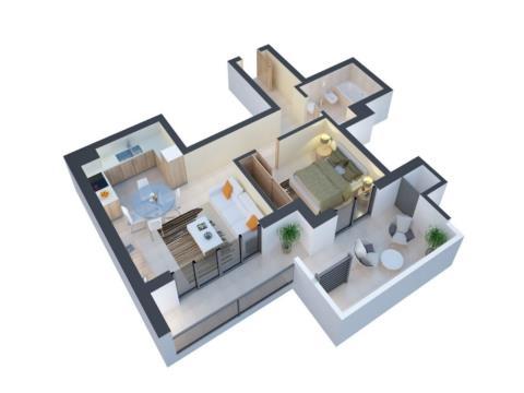 79-sqm 1-bedroom Apartment with SEA VIEW in Praia da Rocha
