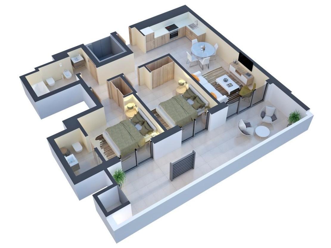 97-sqm 2-bedroom Apartment in Praia da Rocha