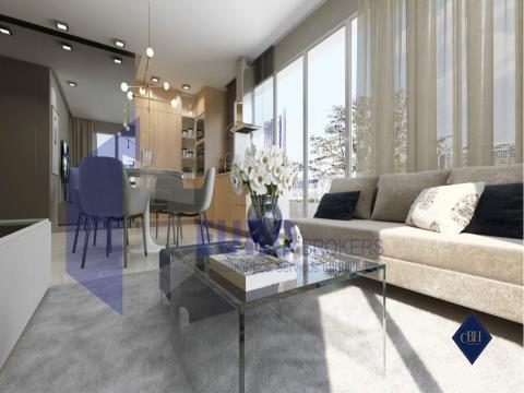 Apartamento T3 novo em condomínio de luxo na praia