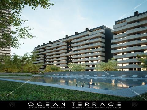 Apartamento T4 em Leça da Palmeira - Ocean Terrace Condomínio Fechado