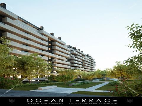 Apartamento T3 em Leça da Palmeira - Ocean Terrace Condomínio Fechado