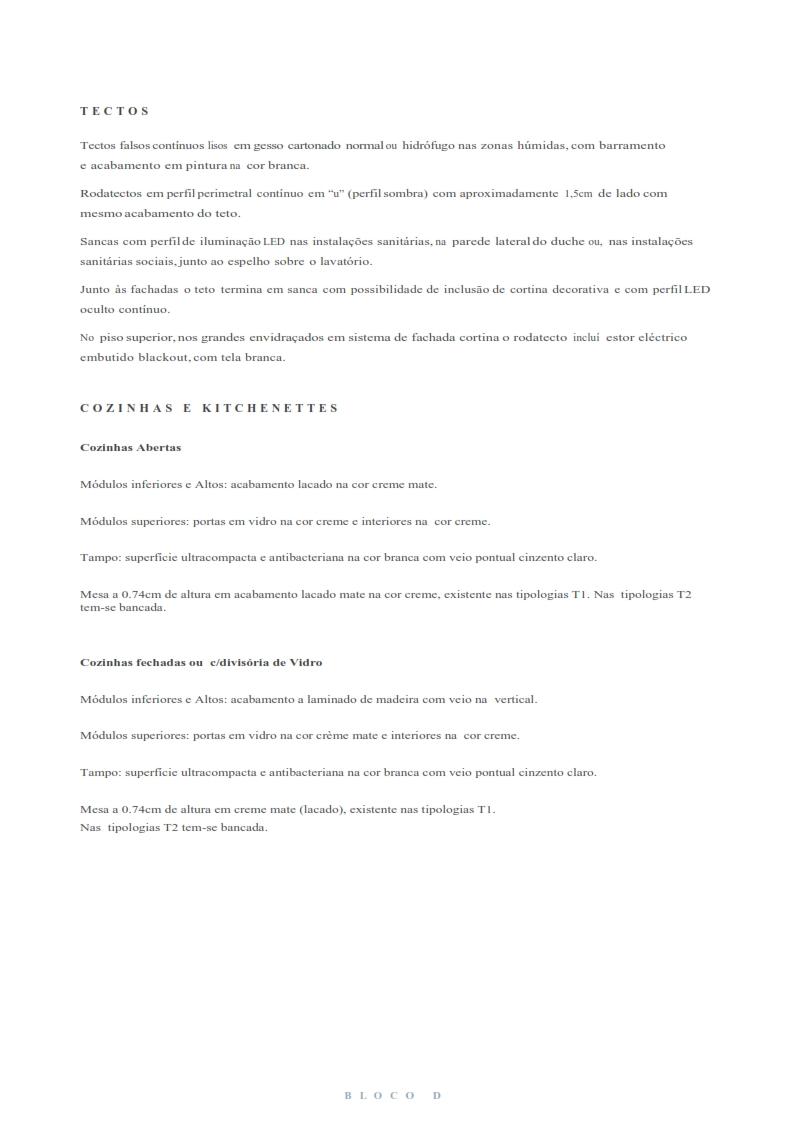 Fracção D9 - Bloco D Piso 4 - Bom Sucesso