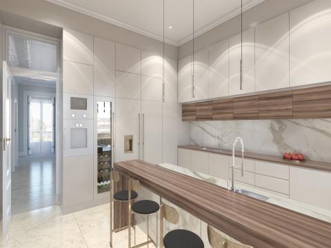 Apartamento 4 - Piso 4 e 5 - T4 Duplex - Largo de São Carlos