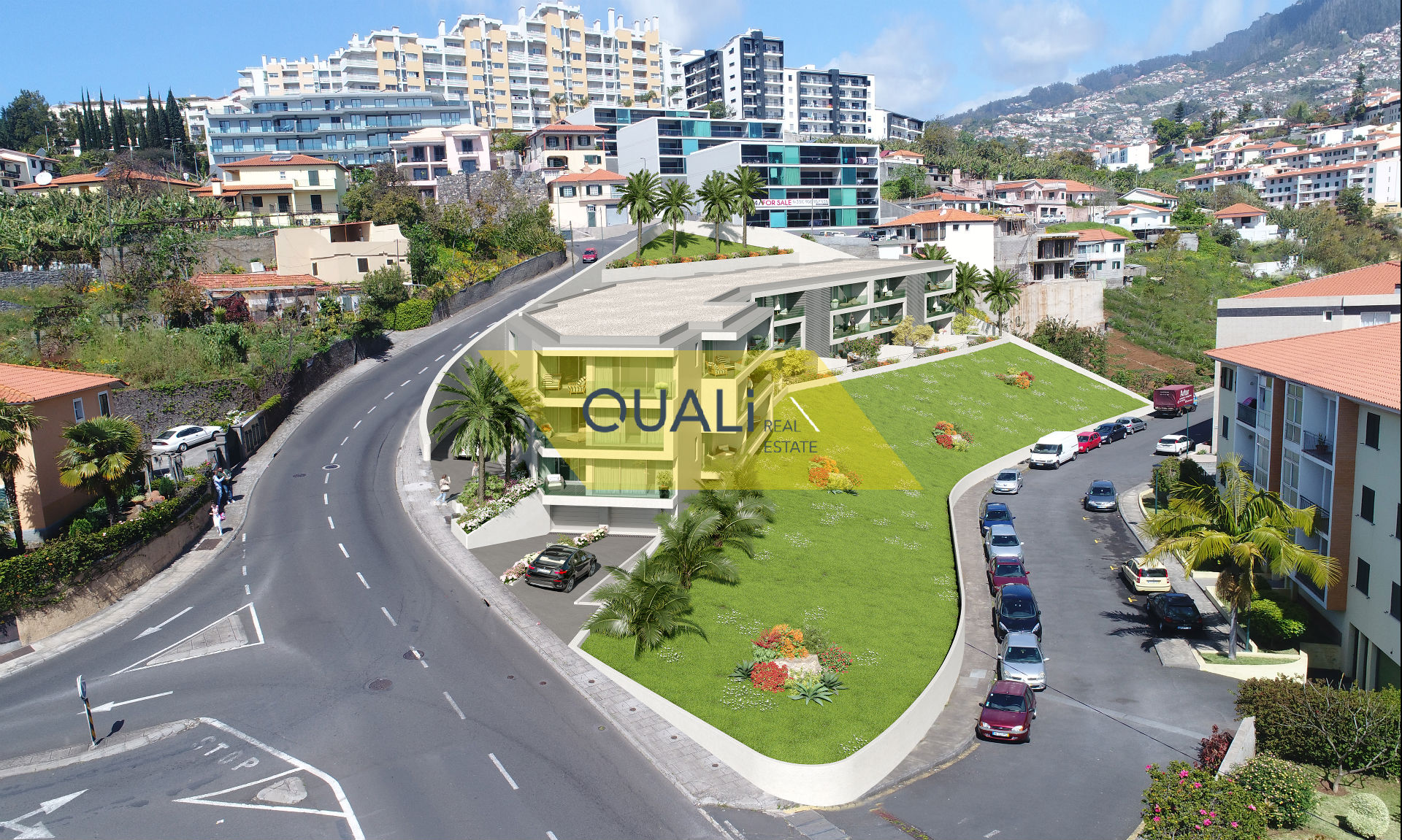 2 bedroom apartment in phase of finishing in Santo António, Funchal.