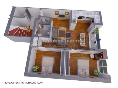 Two bed apartment for sale