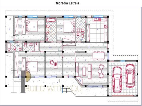 ESTRELA - Moradia T4 térrea – arquitetura clássica