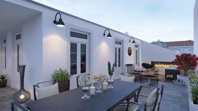 4 Chambres spacieux et unique avec grande terrasse  Quartier à la mode: Anjos ! Avec parking
