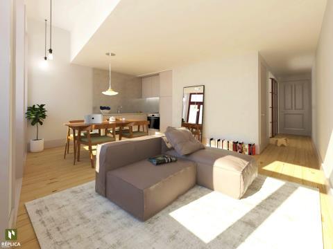 Apartamento T0+1 em Cedofeita (Lapa)