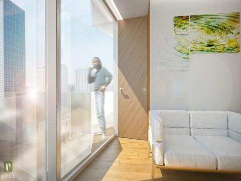 Apartamiento duplex de 1 habitación