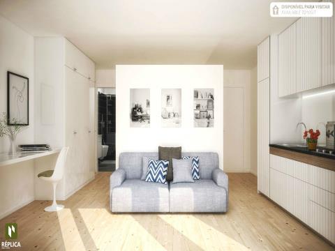 Apartamento T0 Novo na zona da Marquês