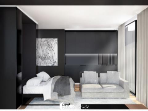 Apartamento T0 novo com terraço e garagem