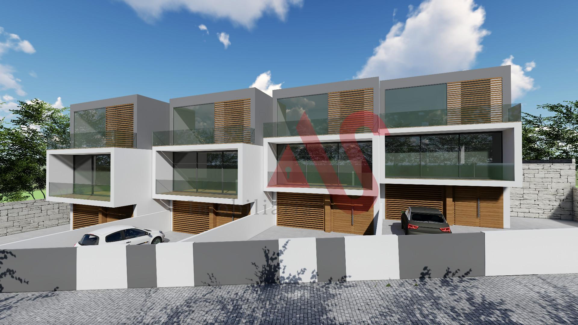 Moradia nova T3 de gaveto em S. Torcato, Guimarães