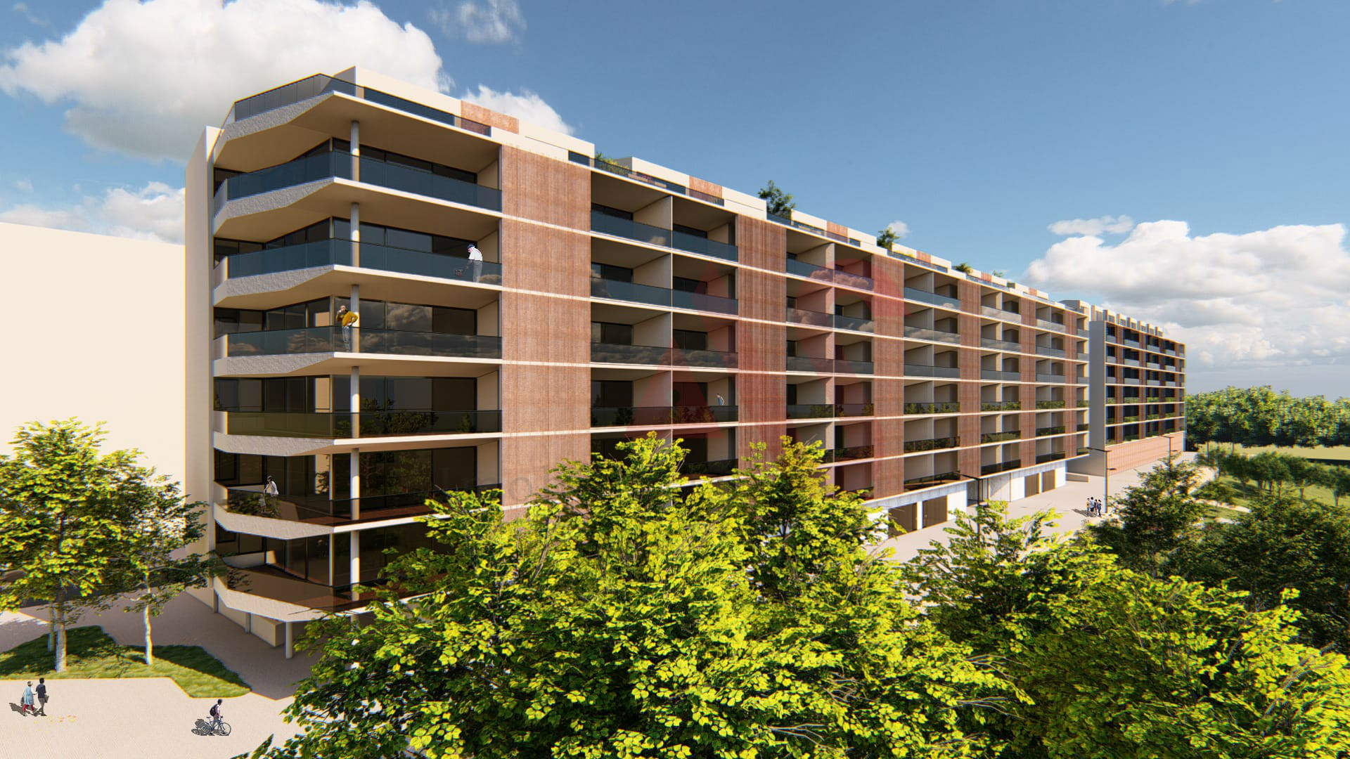 3+1 duplex bedroom apartment, in the Rio Ave Terrasse II development, on the banks of the Rio Ave