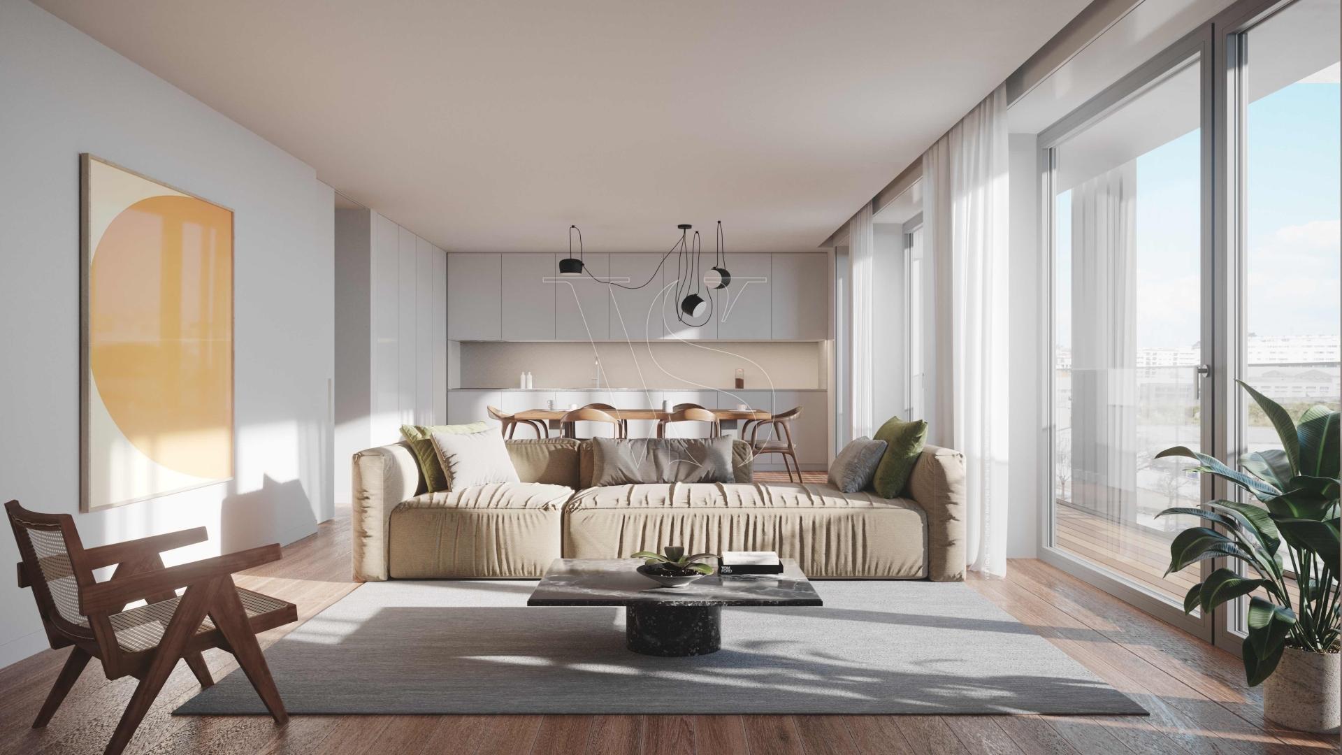 Apartamento T2 Matosinhos Sul - 114m2 c/ garagem (T2A2)