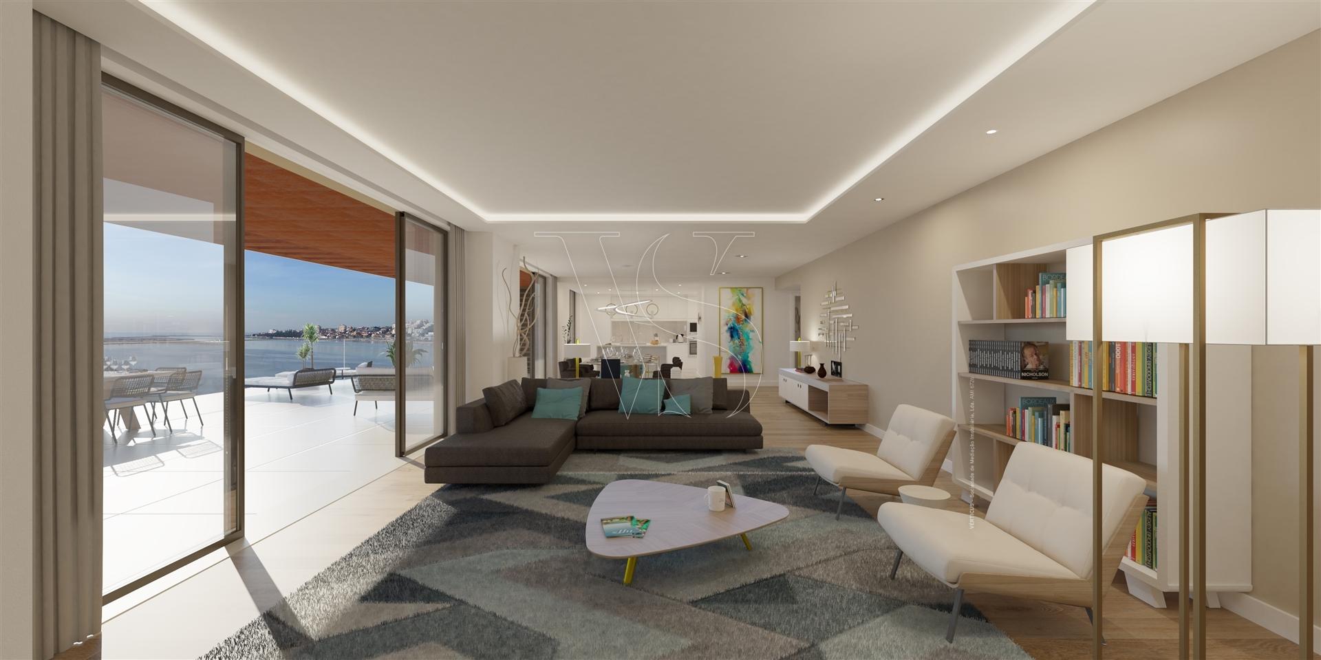T4 Penthouse, Closed Condominium, Douro River, Porto and Sea views.