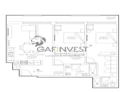 Apartamento T2 Novo em Aveiro
