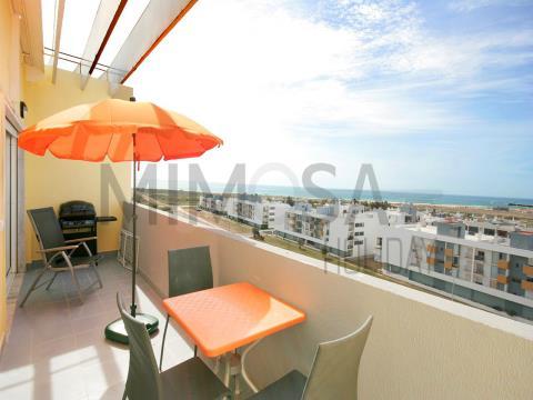 Bel appartement d´une chambre avec piscine et vue mer à Lagos
