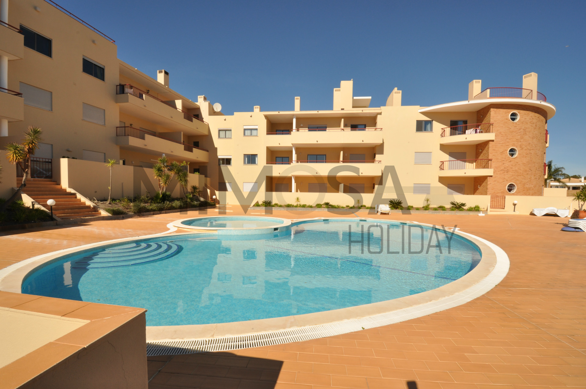 Appartamento con 2 camere da letto e piscina a Praia D. Ana, Lagos