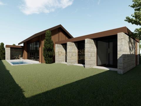 Moradia Individual Térrea T3 com piscina de Arquitetura Moderna em Candoso São Tiago