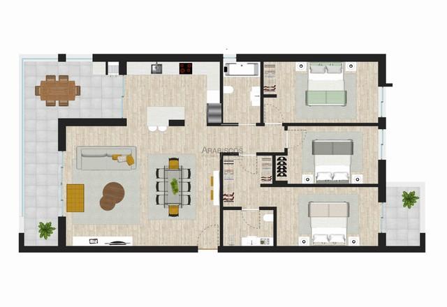 Apartamentos T3 - Cozinha equipada - Suite - Varanda - Barbecue - Garagem - Alto do Quintão