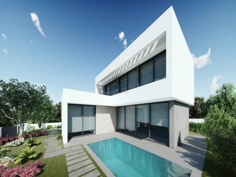 Moradia Isolada T4 - Em construção - Arq. Contemporânea - Piscina - Jardim