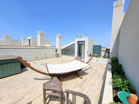 Moradia T2 - Piscina Infinity - Terraço com jacuzzi - vistas do Estuário - Mex. Carregação - Algarve