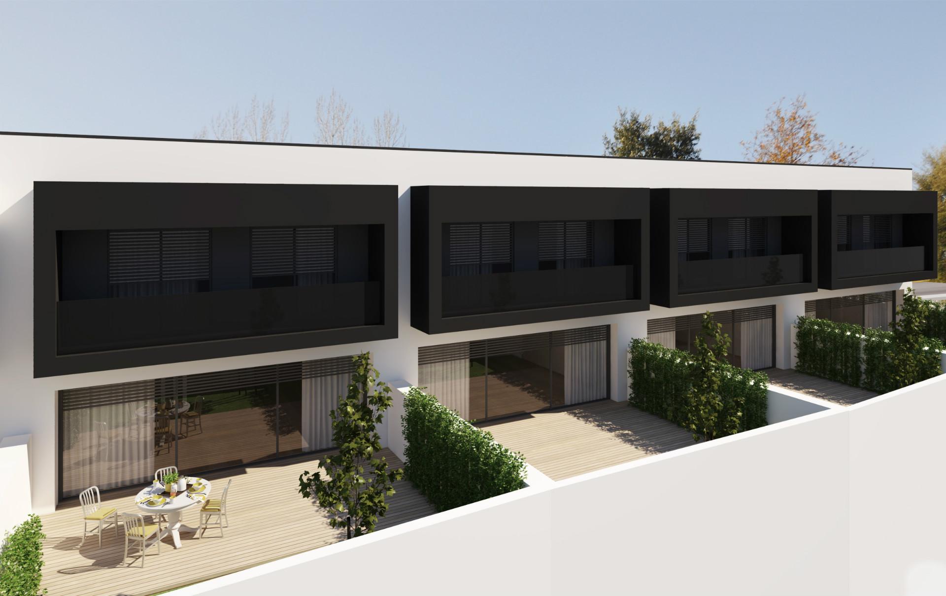 Moradias em fase de construção com ótimos acabamentos, numa excelente localização