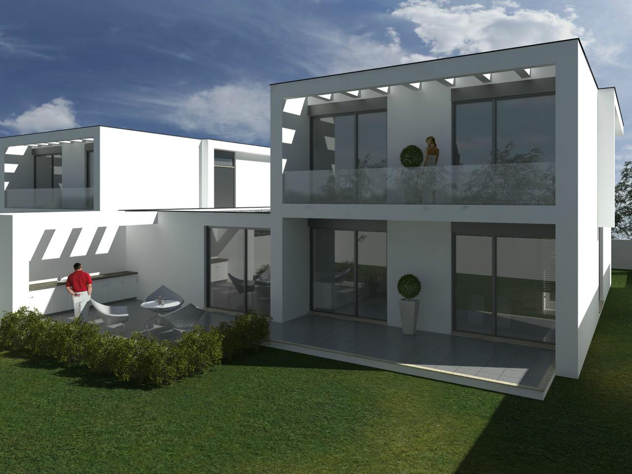 moradias individuais, churrasqueira, piscina, celeiros, braga, luxo, dois pisos
