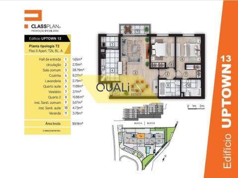 Apartamento T2 para venda em São João, Funchal - Ilha da Madeira - €245.000,00