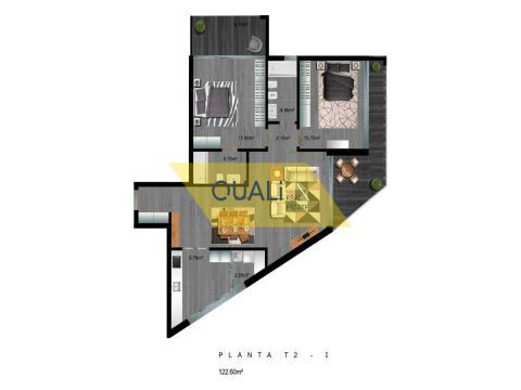 Appartamento con 2 camere da letto in fase di rifinitura a Santo António, Funchal.