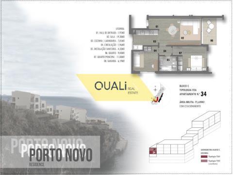 Apartamento com 2 quartos e vista Mar €190.000,00 Porto Novo, Ilha da Madeira.