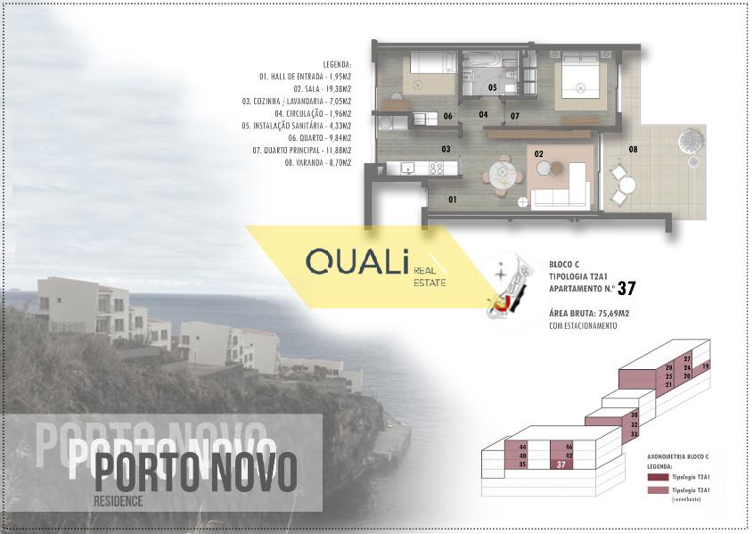 Appartamento con due camere da letto con vista mare € 165.000,00 Porto Novo, Madeira Isl
