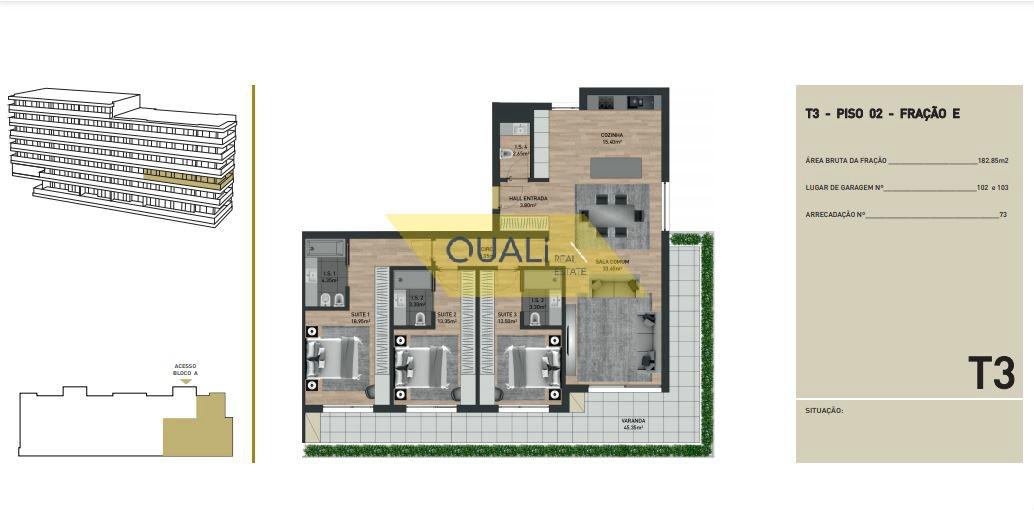 Appartamento con 3 camere da letto in vendita nelle virtù, Funchal - Isola di Madeira - € 395.500,00