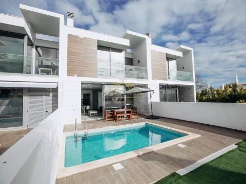 Fantástica Moradia T3, com linhas modernas, piscina privada, jardim, perto da praia