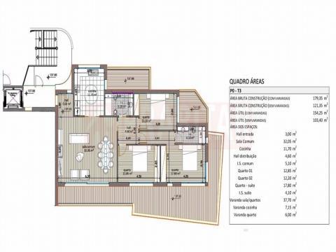 Apartamento T3 com garagem dupla em Santa Clara
