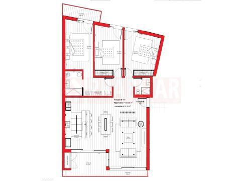 Apartamento T3  com garagem em Santa Clara