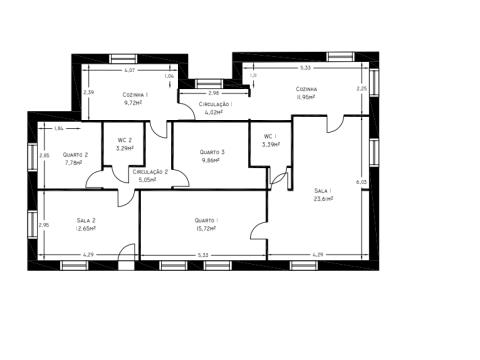 Haus 3 Schlafzimmer DÚPLEX
