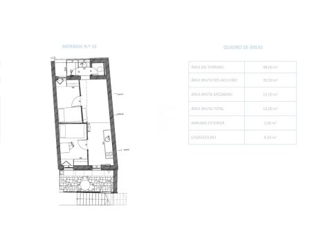 Semi-detached house T2+2 DUPLEX