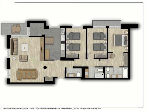 Apartamento T3 com Excelentes Varandas, NOVO! e muito bem localizado a 500m do Metro