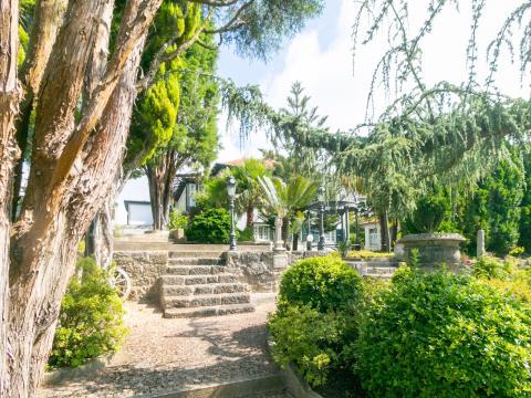 Finca con vista al mar, jardín, piscina cubierta y SPA