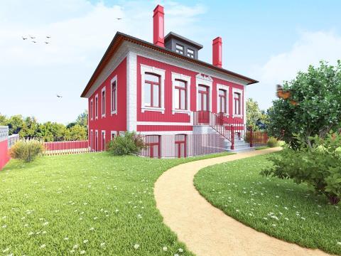 Lindo T4 Novo em Condomínio fechado tipo Palacete - Às Antas (Porto)