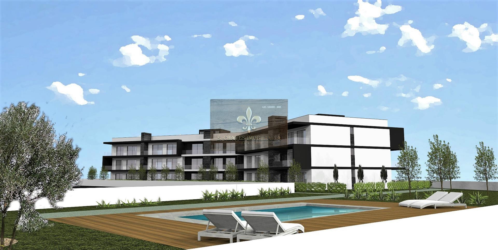 1+1-Schlafzimmer-Wohnung im Bau mit Schwimmbad in Ferreiras