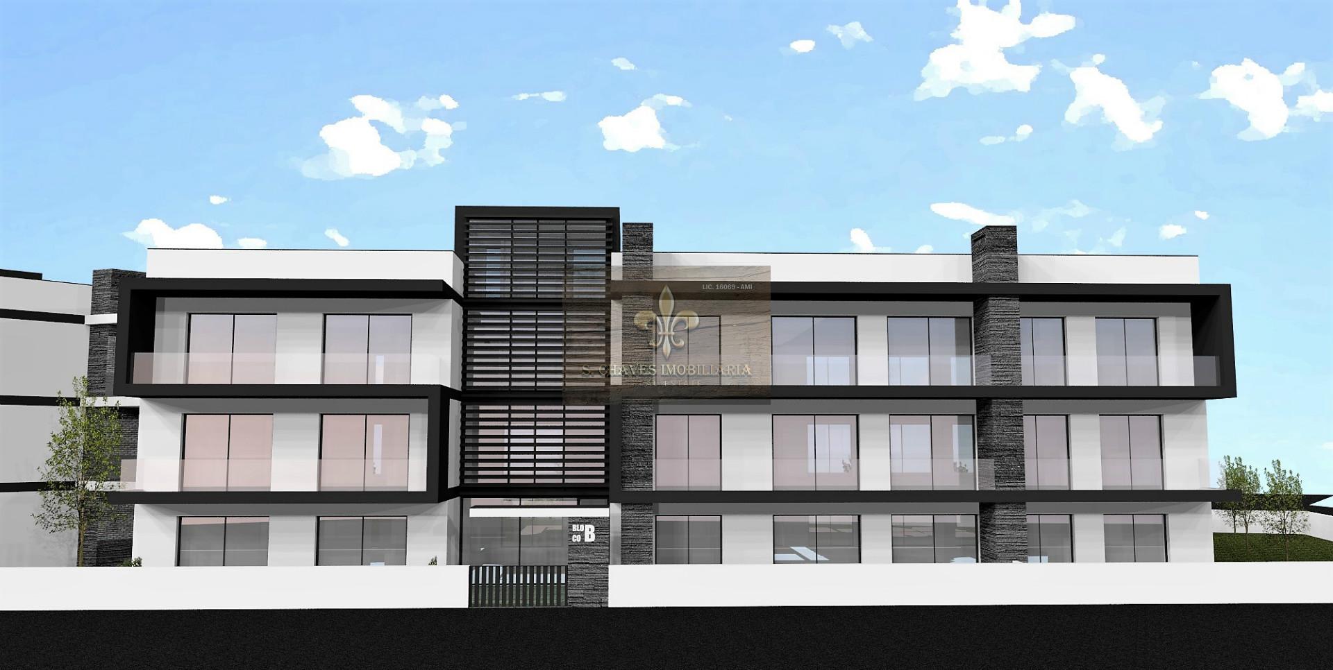 Apartamento T1+1 em construção com piscina em Ferreiras